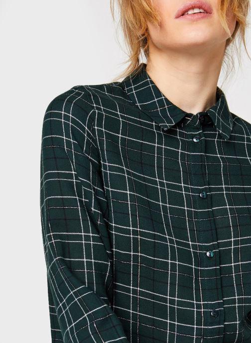 Vêtements Vero Moda Vmflo Ls Shirt Wvn Vert vue face