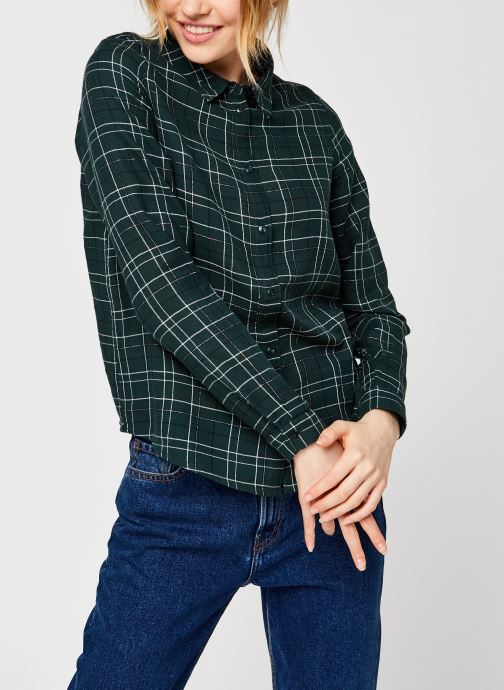 Vêtements Vero Moda Vmflo Ls Shirt Wvn Vert vue droite