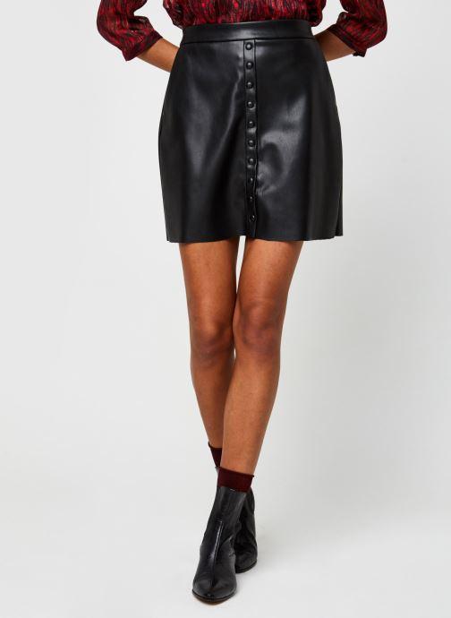 Vêtements Vero Moda Vmbutterally Hw Short Coated Skirt Noir vue détail/paire