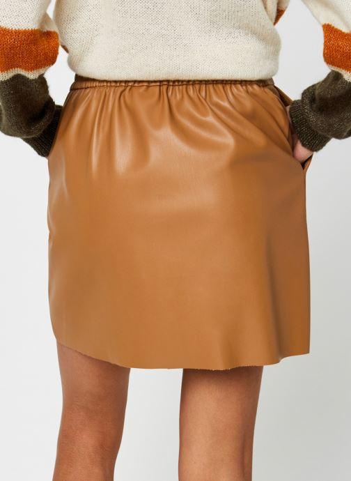 Vêtements Vero Moda Vmbutterally Hw Short Coated Skirt Marron vue portées chaussures