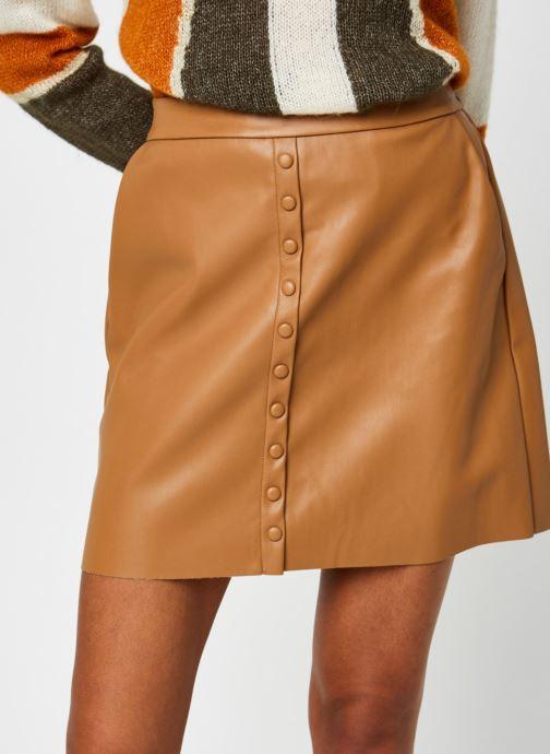 Vêtements Vero Moda Vmbutterally Hw Short Coated Skirt Marron vue face