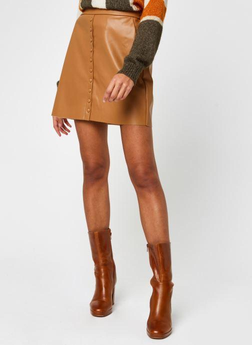 Vêtements Vero Moda Vmbutterally Hw Short Coated Skirt Marron vue détail/paire