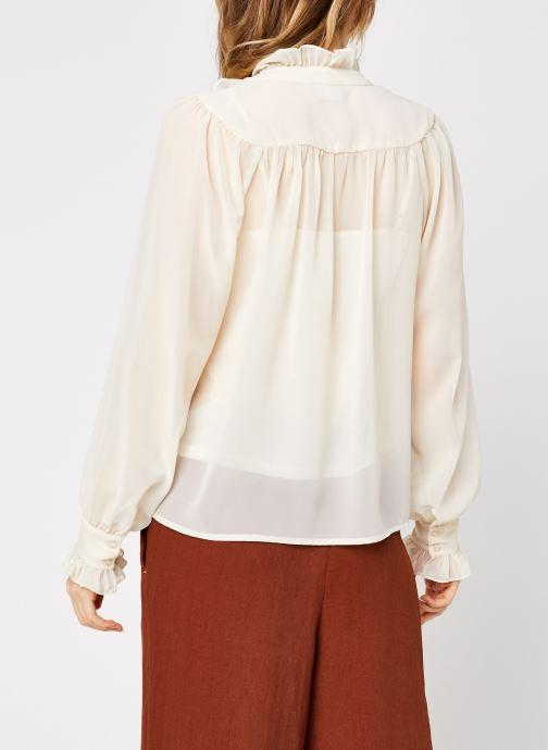 Vêtements Vero Moda Vmmikaela Ls Tie Blouse Vma Blanc vue portées chaussures