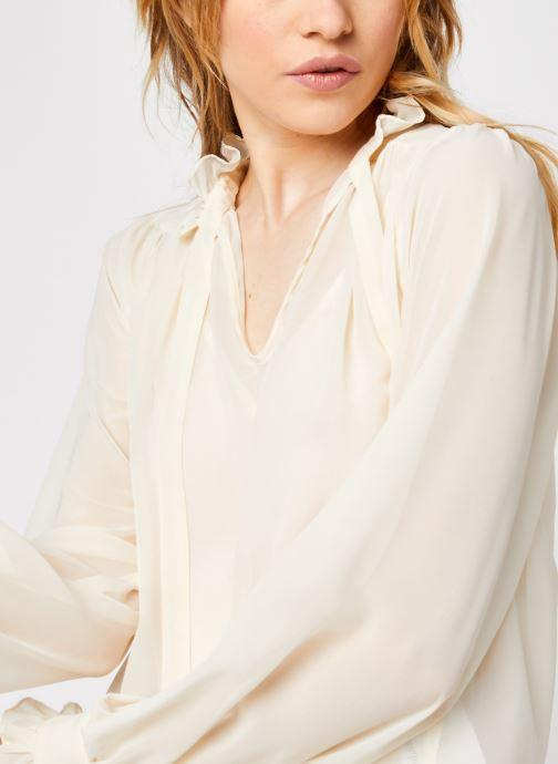 Vêtements Vero Moda Vmmikaela Ls Tie Blouse Vma Blanc vue face