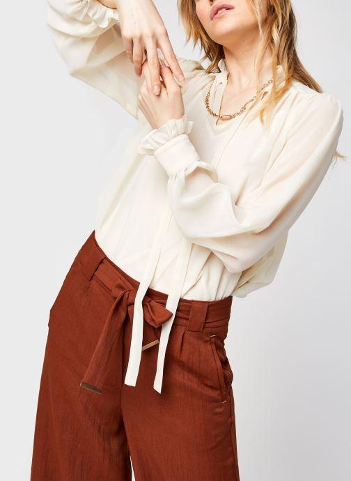 Vêtements Vero Moda Vmmikaela Ls Tie Blouse Vma Blanc vue détail/paire