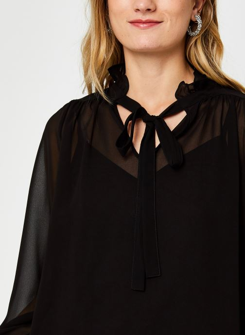 Vêtements Vero Moda Vmmikaela Ls Tie Blouse Vma Noir vue face