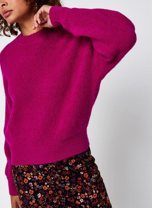 Vêtements Vero Moda Vmstella Ls O-Neck Blouse Ki Rose vue détail/paire