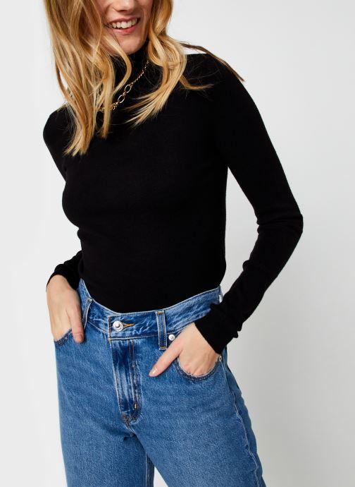 Vêtements Vero Moda Vmhappiness Ls Rollneck Blouse Ga Boo Noir vue détail/paire