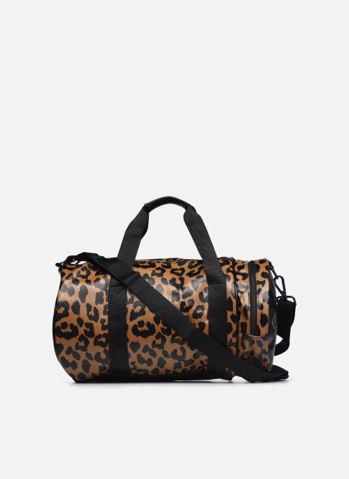 Bagages Fred Perry Leopard Print Barrel Bag Marron vue face