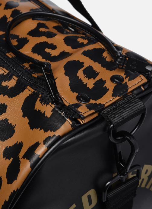Bagages Fred Perry Leopard Print Barrel Bag Marron vue gauche