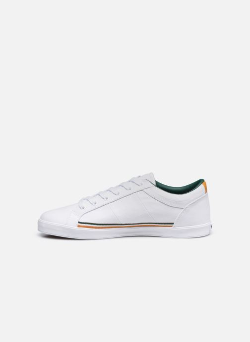 Baskets Fred Perry Baseline Twill Blanc vue face