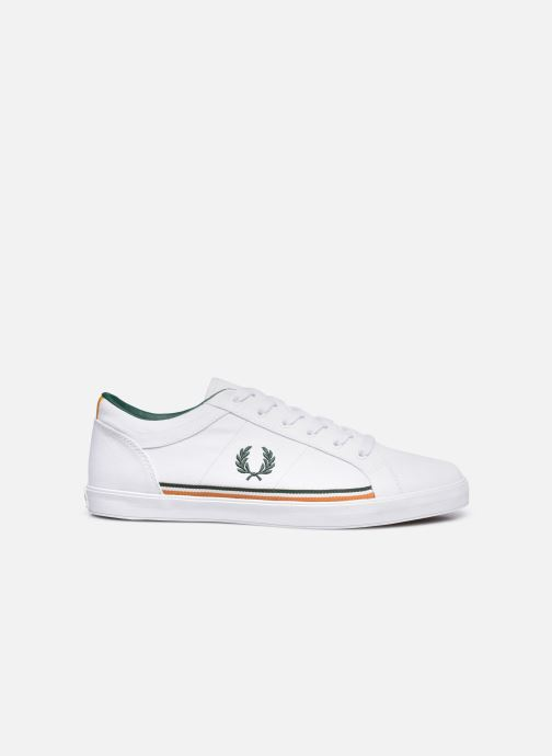 Baskets Fred Perry Baseline Twill Blanc vue derrière