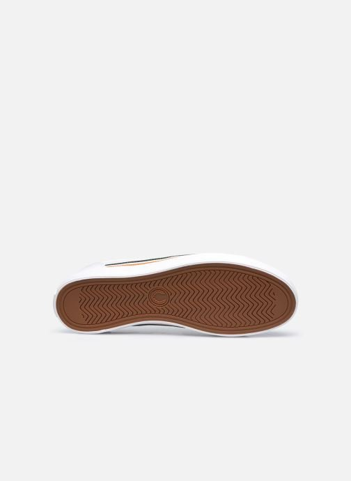 Baskets Fred Perry Baseline Twill Blanc vue haut