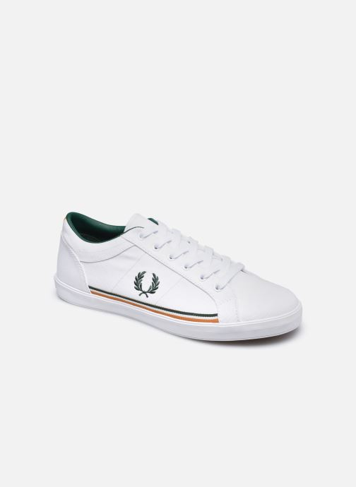Baskets Fred Perry Baseline Twill Blanc vue détail/paire
