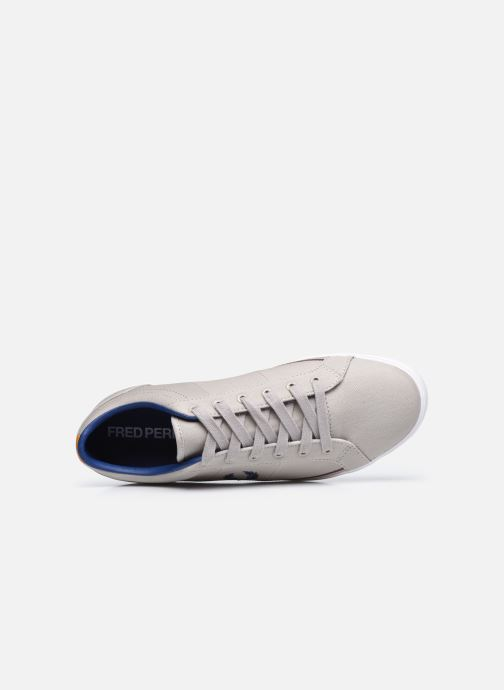 Baskets Fred Perry Baseline Twill Gris vue gauche