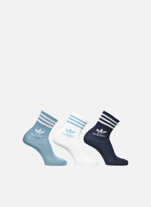 Chaussettes et collants adidas originals Mid Cut Crw Sck Bleu vue détail/paire