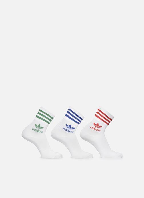 Chaussettes et collants adidas originals Mid Cut Crw Sck Blanc vue détail/paire