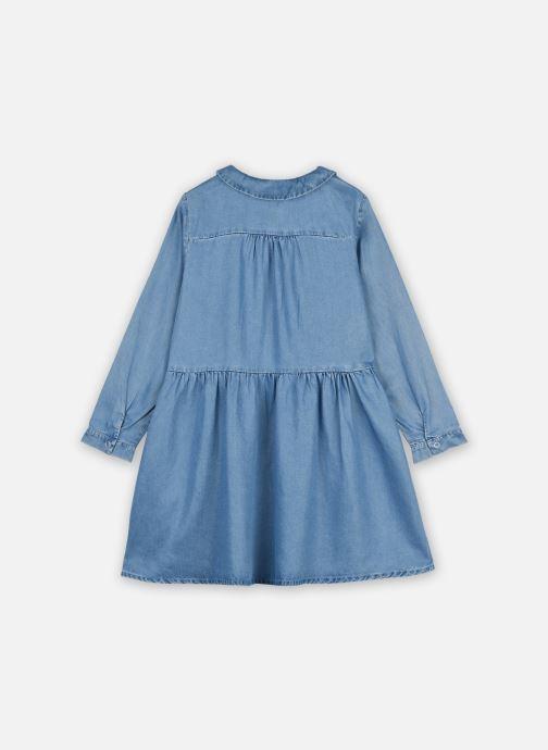 Vêtements Cyrillus Robe Chemise Ilene Bleu vue portées chaussures