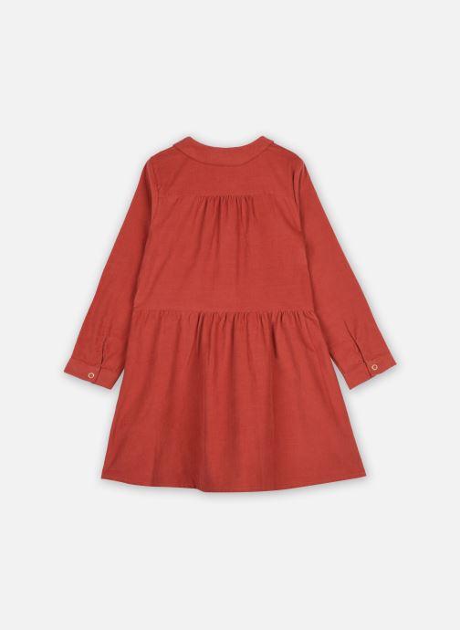 Vêtements Cyrillus Robe Chemise Ileana Orange vue portées chaussures