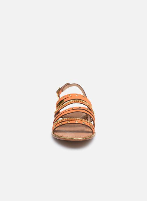 Sandales et nu-pieds Les Tropéziennes par M Belarbi HANIAC Orange vue portées chaussures