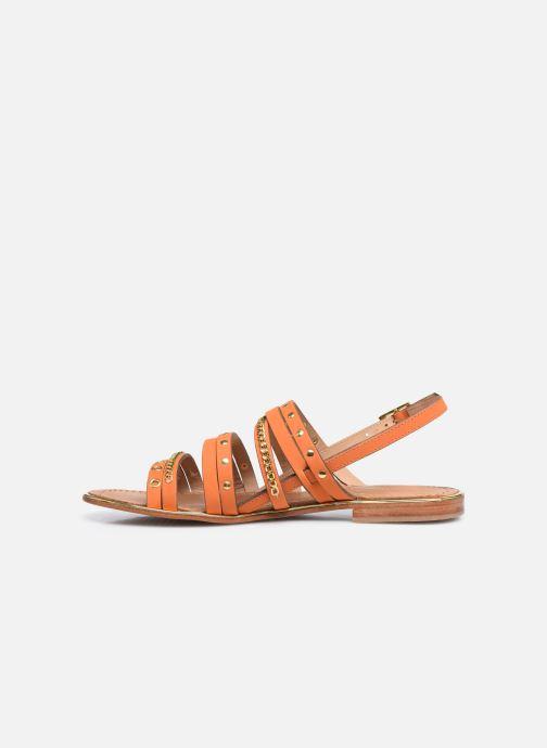 Sandales et nu-pieds Les Tropéziennes par M Belarbi HANIAC Orange vue face