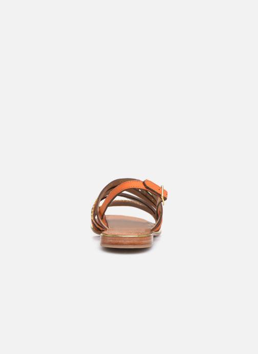 Sandales et nu-pieds Les Tropéziennes par M Belarbi HANIAC Orange vue droite