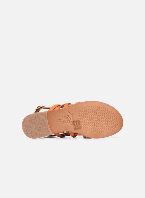 Sandales et nu-pieds Les Tropéziennes par M Belarbi HANIAC Orange vue haut