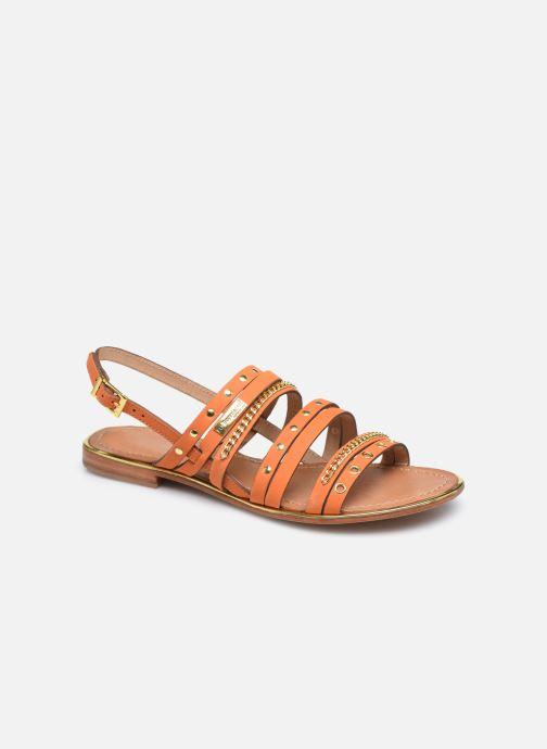 Sandales et nu-pieds Les Tropéziennes par M Belarbi HANIAC Orange vue détail/paire
