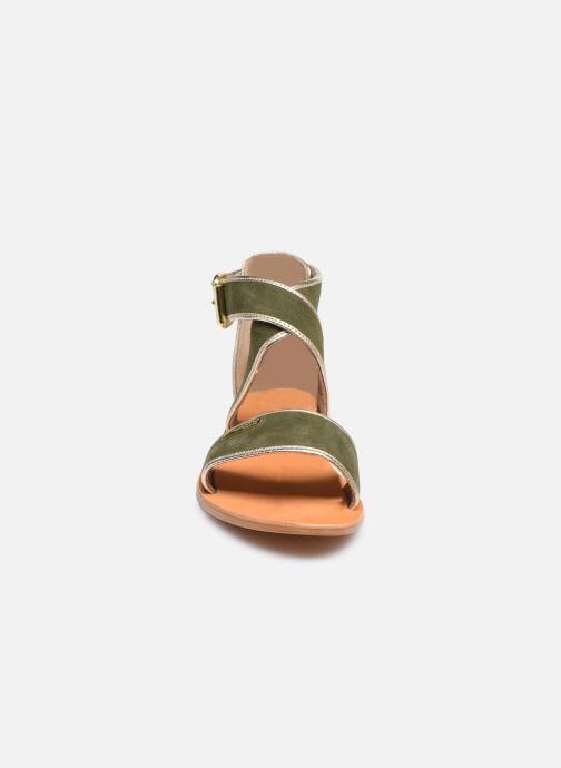 Sandalias Les Tropéziennes par M Belarbi PLASTE Verde vista del modelo