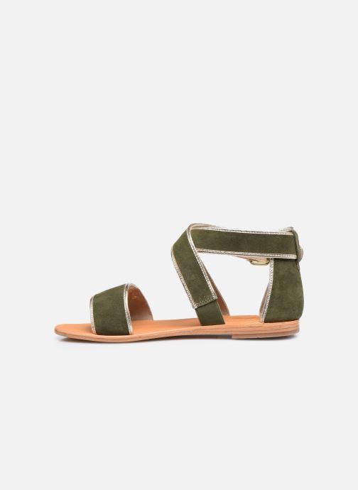 Sandalias Les Tropéziennes par M Belarbi PLASTE Verde vista de frente