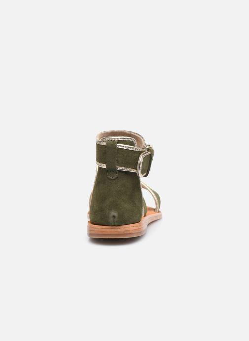 Sandalias Les Tropéziennes par M Belarbi PLASTE Verde vista lateral derecha