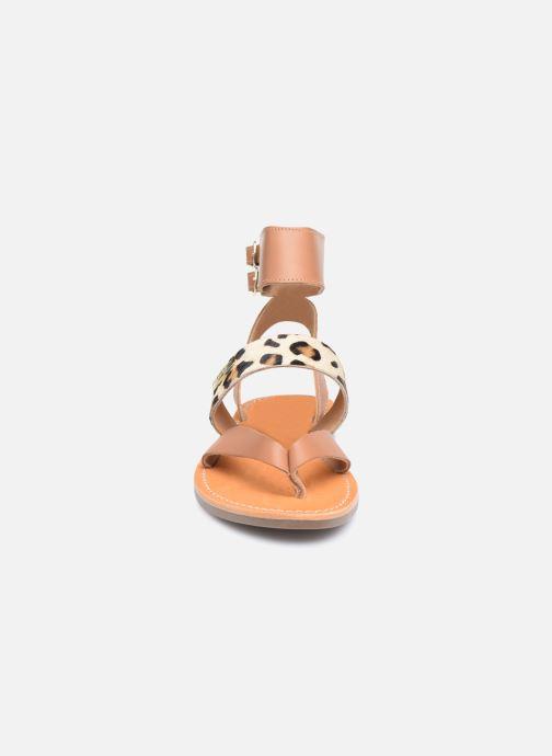 Sandales et nu-pieds Les Tropéziennes par M Belarbi PUERTO Beige vue portées chaussures