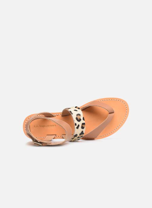 Sandales et nu-pieds Les Tropéziennes par M Belarbi PUERTO Beige vue gauche