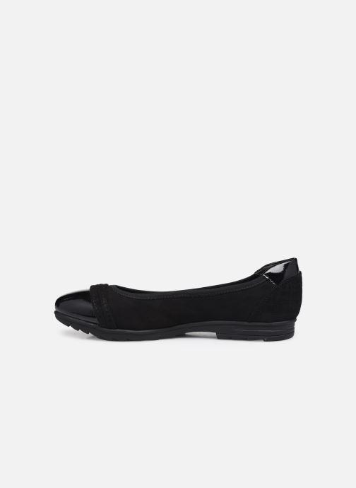 Ballerines Jana shoes Beelly Noir vue face