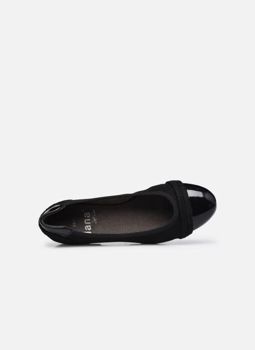 Ballerines Jana shoes Beelly Noir vue gauche