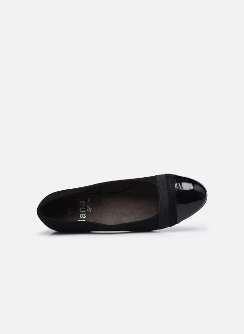 Ballerines Jana shoes Ibizu Noir vue gauche