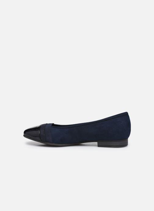 Ballerines Jana shoes Ibizu Bleu vue face