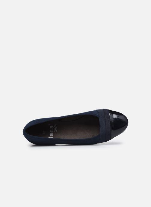 Ballerines Jana shoes Ibizu Bleu vue gauche