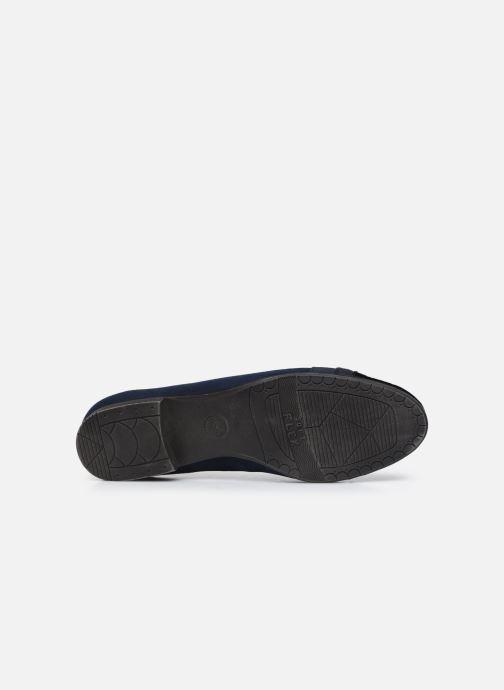 Ballerines Jana shoes Ibizu Bleu vue haut