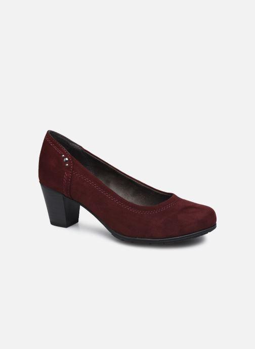 Escarpins Jana shoes Romanza Bordeaux vue détail/paire