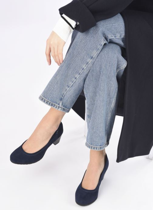 Escarpins Jana shoes Romanza Bleu vue bas / vue portée sac