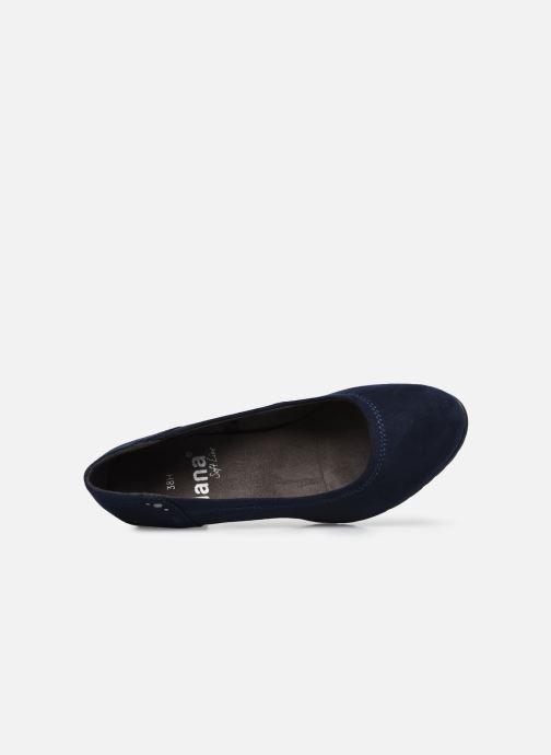 Escarpins Jana shoes Romanza Bleu vue gauche
