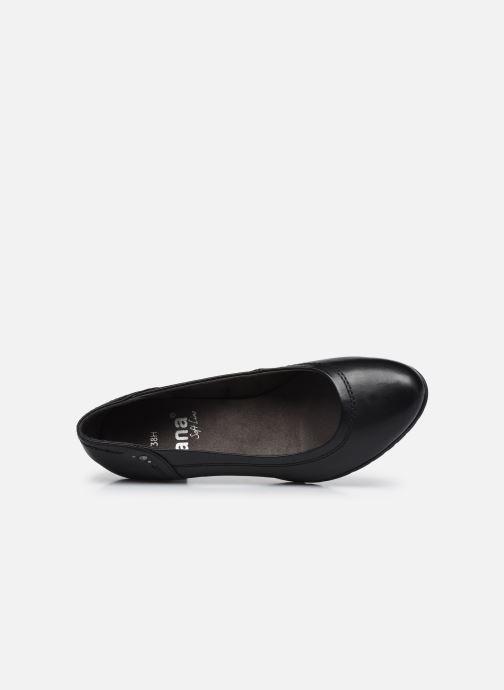 Pumps Jana shoes Ravva schwarz ansicht von links