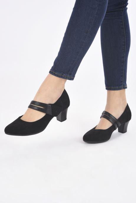 Escarpins Jana shoes Griski Noir vue bas / vue portée sac