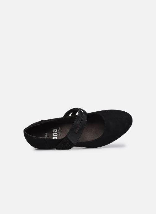 Escarpins Jana shoes Griski Noir vue gauche