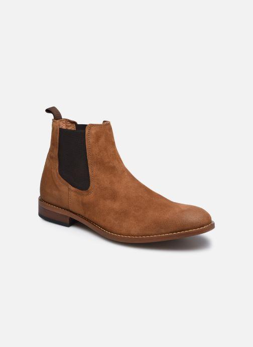 Ankelstøvler Marvin&Co Donato Brun detaljeret billede af skoene