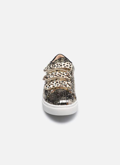 Baskets Vanessa Wu BK2162 Or et bronze vue portées chaussures