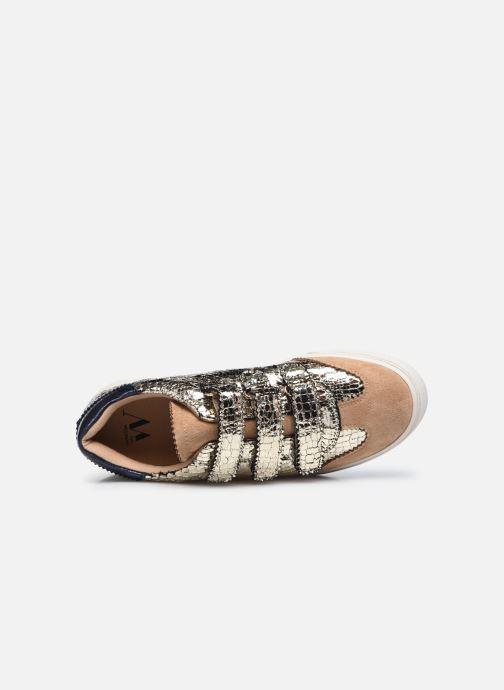 Sneaker Vanessa Wu BK2163 gold/bronze ansicht von links