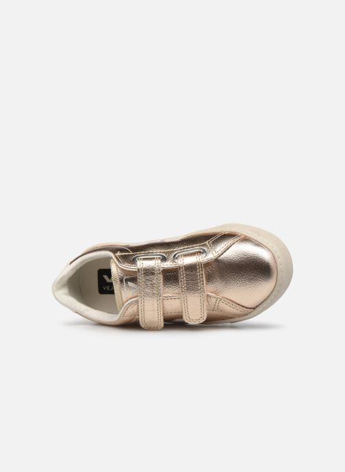 Deportivas Veja Small Esplar Velcro Leather Oro y bronce vista lateral izquierda