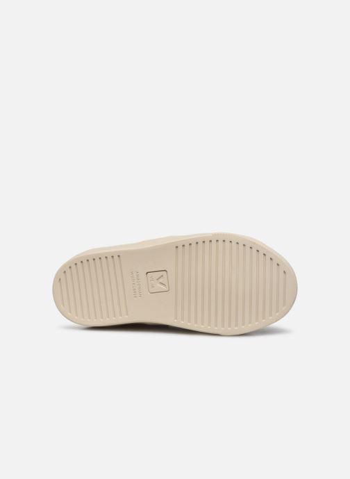 Baskets Veja Small Esplar Velcro Leather Or et bronze vue haut